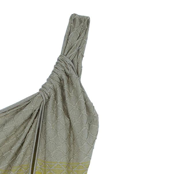 M Missoni One Shoulder Multicolor Knit Dress M