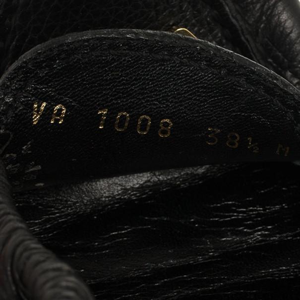 Louis Vuitton Black Leather Lemon Loafers Size 38.5