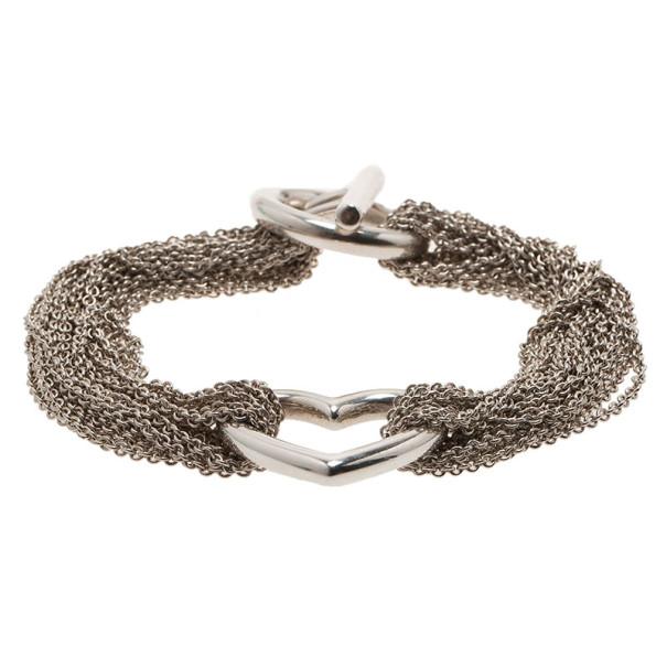 Tiffany & Co. Ten Chain Heart Bracelet 19CM