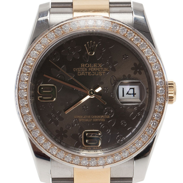 Rolex Black Stainless Steel DateJust Women's Wristwatch 42MM