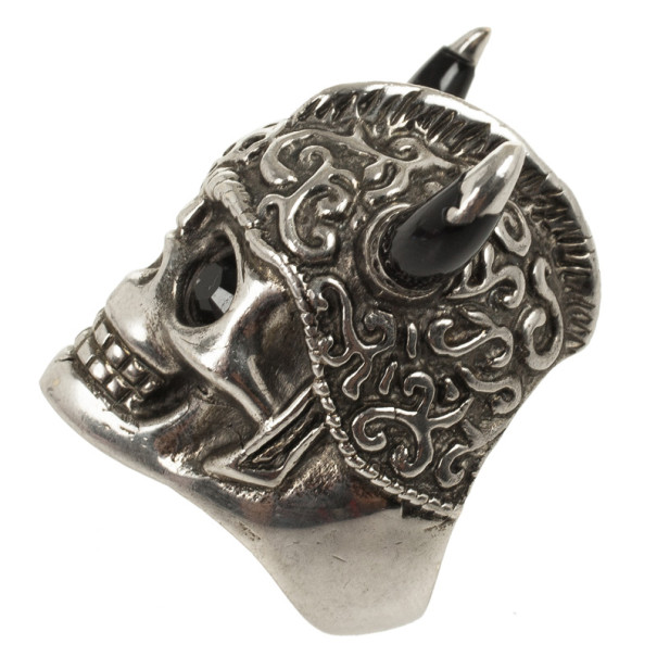 Alexander McQueen Warrior Skull Ring Size 52
