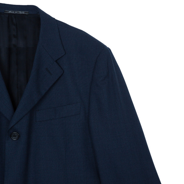 Fendi Navy Blue Blazer Jacket EU56