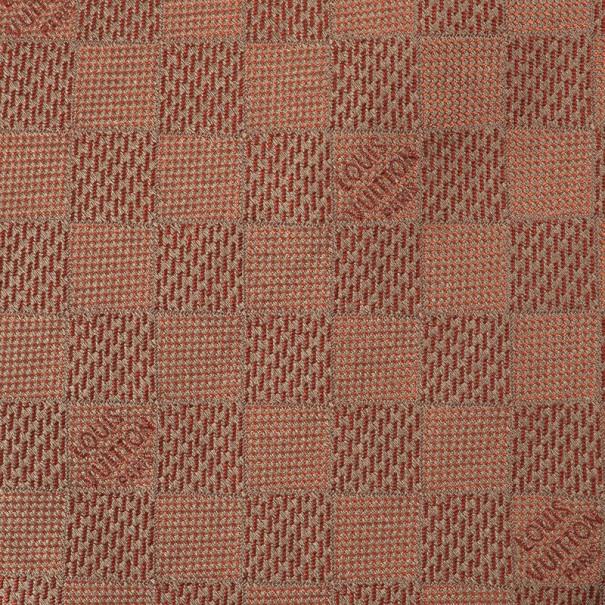 Louis Vuitton Bronze Damier Classique Woven Silk Tie