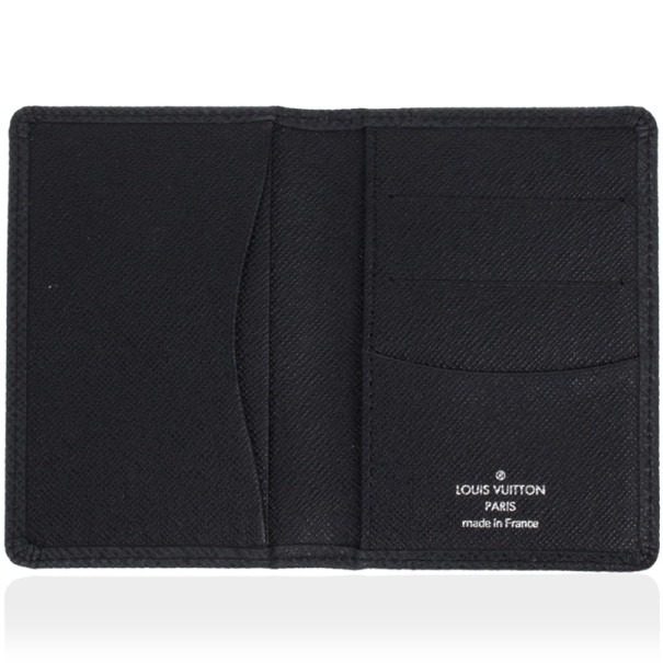 Louis Vuitton Taiga Black Pocket Organizer