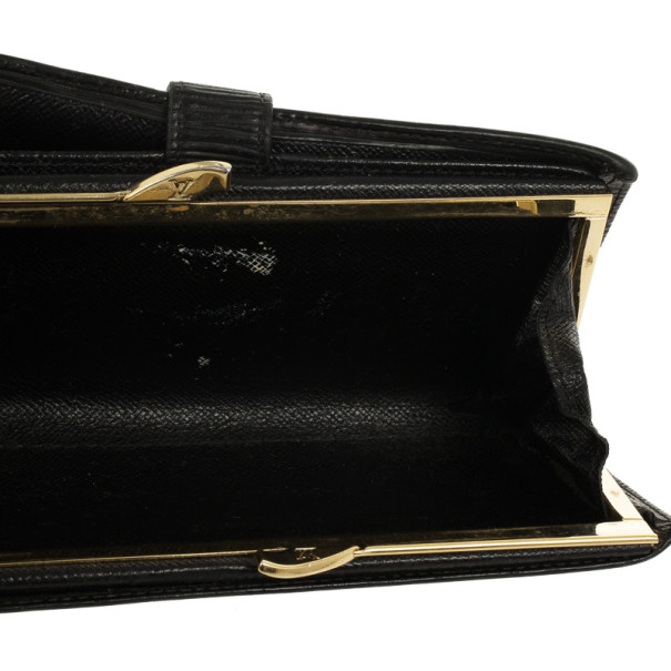 Louis Vuitton Black Epi Leather French Purse Wallet