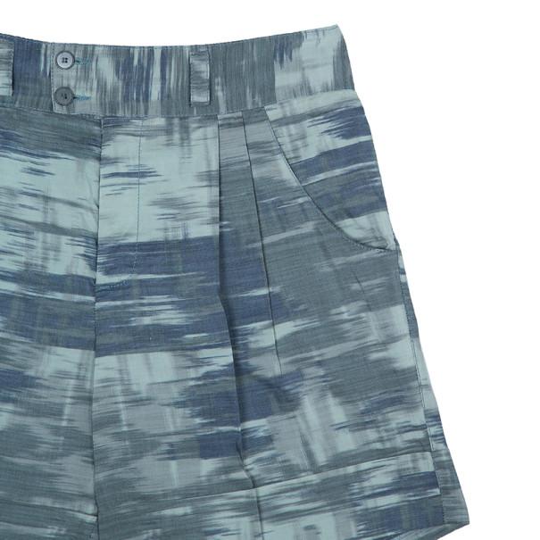 Missoni Green Abstract Print Ramie Shorts M