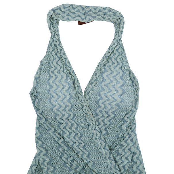 Missoni Green Knit Halter Wrap Top S