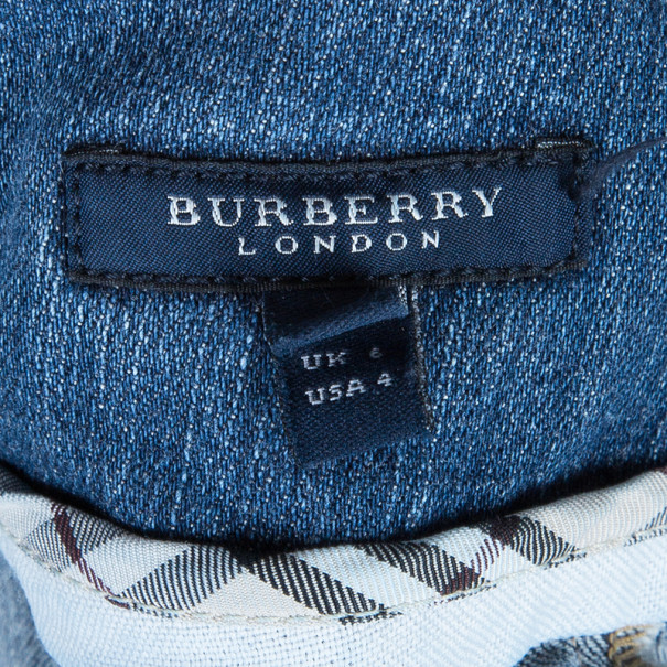 Burberry Denim Pleated Mini Skirt S