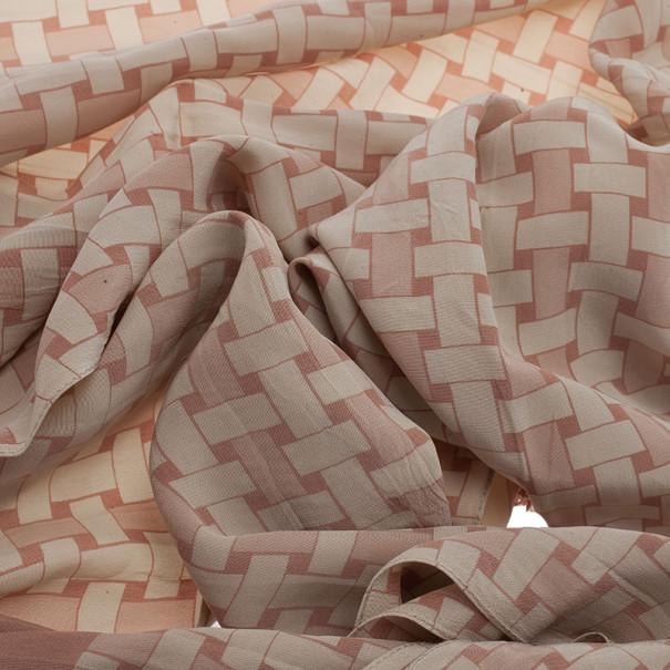 Burberry Prorsum Beige Printed Silk Stole