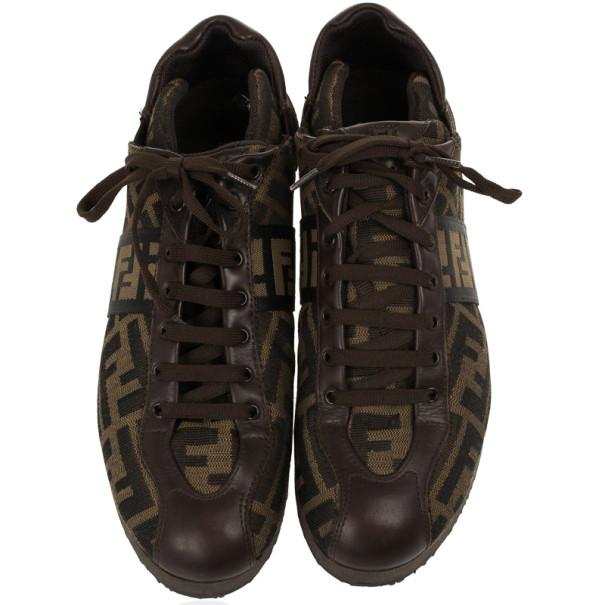 Fendi Tobacco Zucca Sneakers Size 38