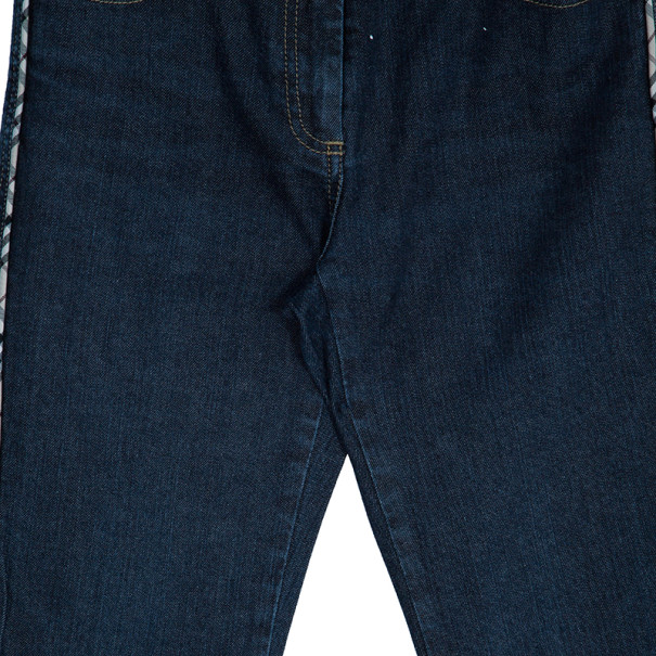 Burberry Dark Blue Flare Denim Pants S