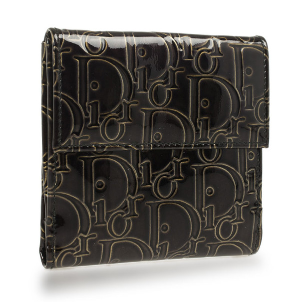 Christian Dior Patent Fold Wallet
