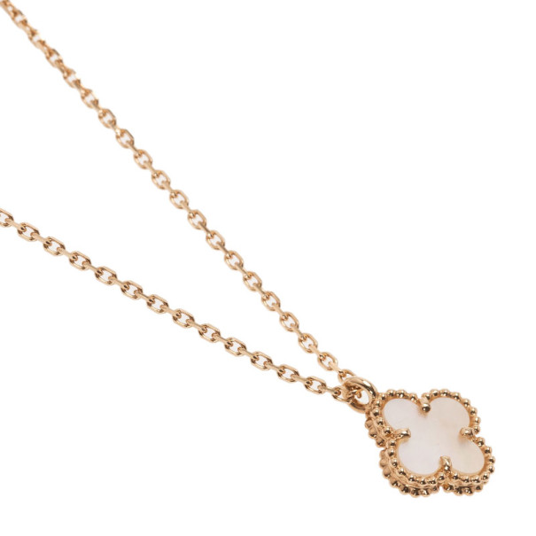 Van Cleef & Arpels Sweet Alhambra Mother of Pearl Pendant Necklace
