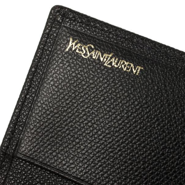 Yves Saint Laurent Black Leather Classic Large Wallet