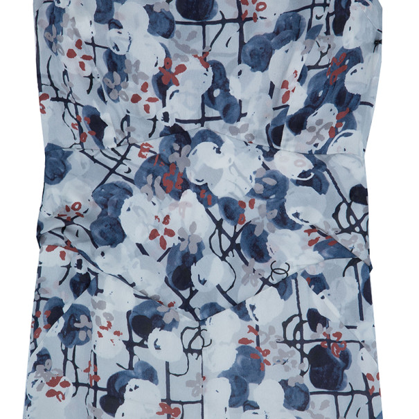 Chanel Floral Silk Printed Dress M