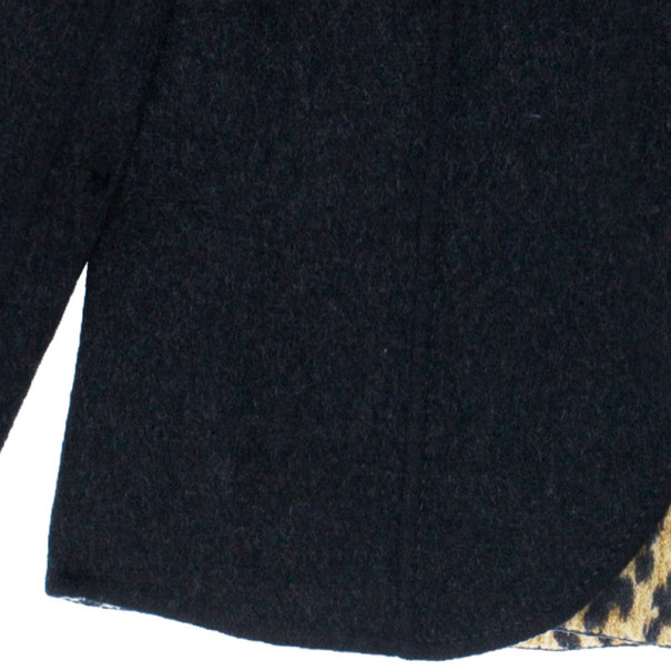 Valentino Black Jacket with Leopard Print Lining XL