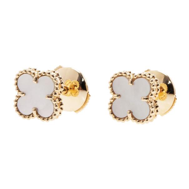 Van Cleef & Arpels Sweet Alhambra Mother of Pearl Stud Earrings