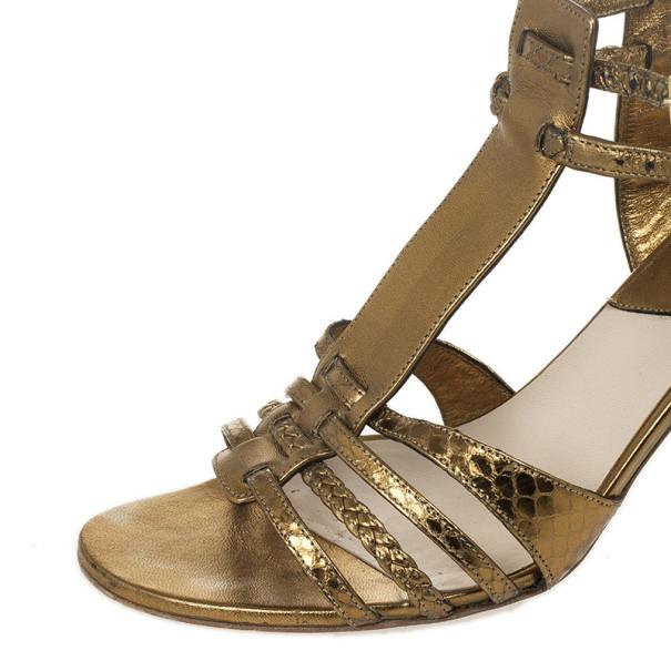 Christian Dior Bronze Diorantik Sandal Size 37.5