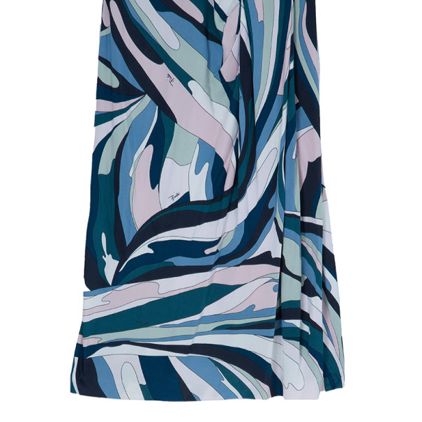 Emilio Pucci Multicolor Abstract Print Dress M