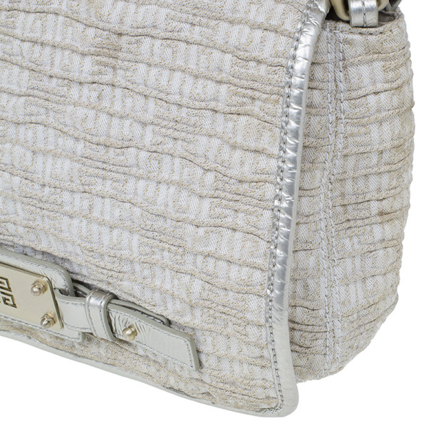 Givenchy Beige Greased Fabric Satchel