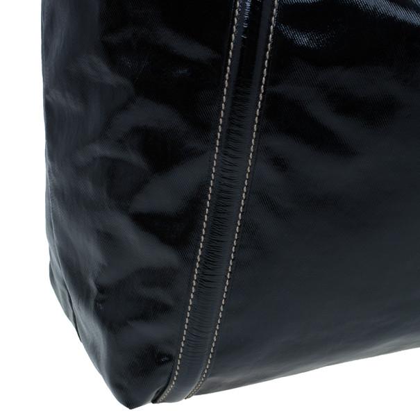Gucci Black Patent Leather Large Brit Tote