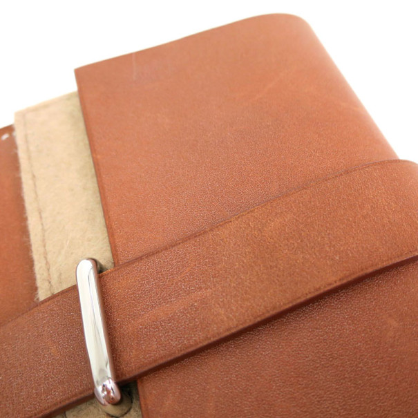 Hermes Beige Barenia Leather Honore Bifold Wallet