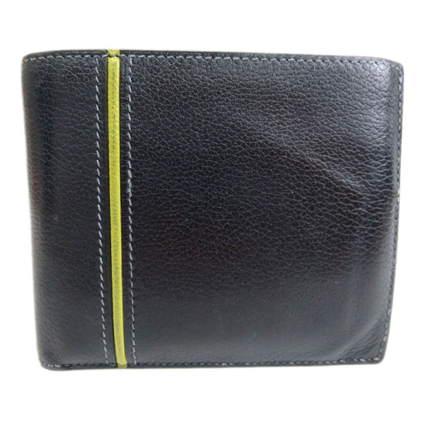 Hermes Black Ever Graine 24 Bifold Wallet
