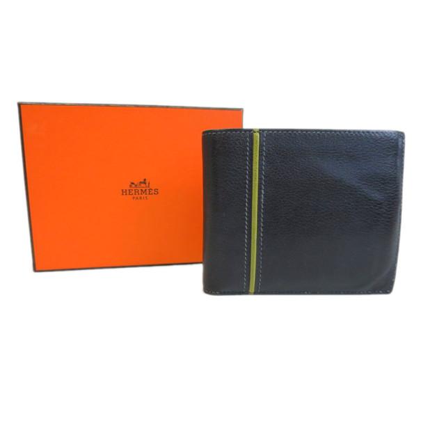 Hermes Black Ever Graine 24 Bifold Wallet