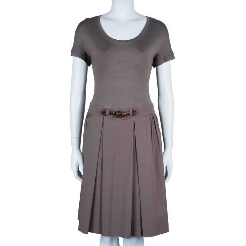 Paule Ka Khaki Cotton Dress L
