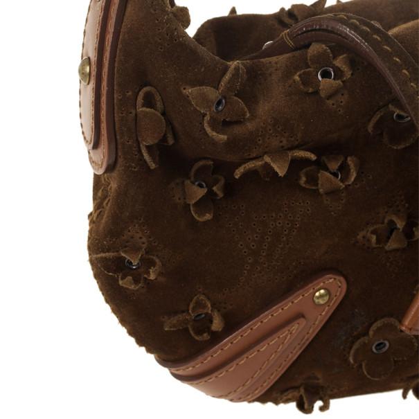 Louis Vuitton Limited Edition Cacao Monogram Suede Onatah Fleurs PM