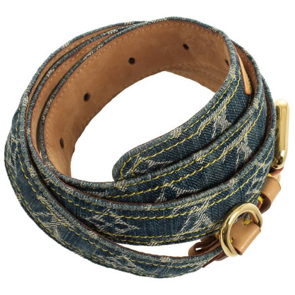 Louis Vuitton Denim Monogram Belt 90 CM