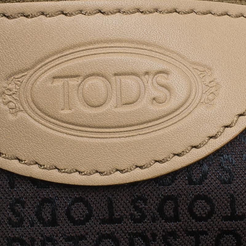 Tod's Beige Leather Softy Media Bag