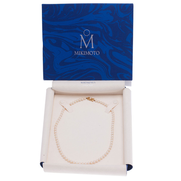 "Mikimoto 18"" Akoya Cultured Pearl Strand Necklace"