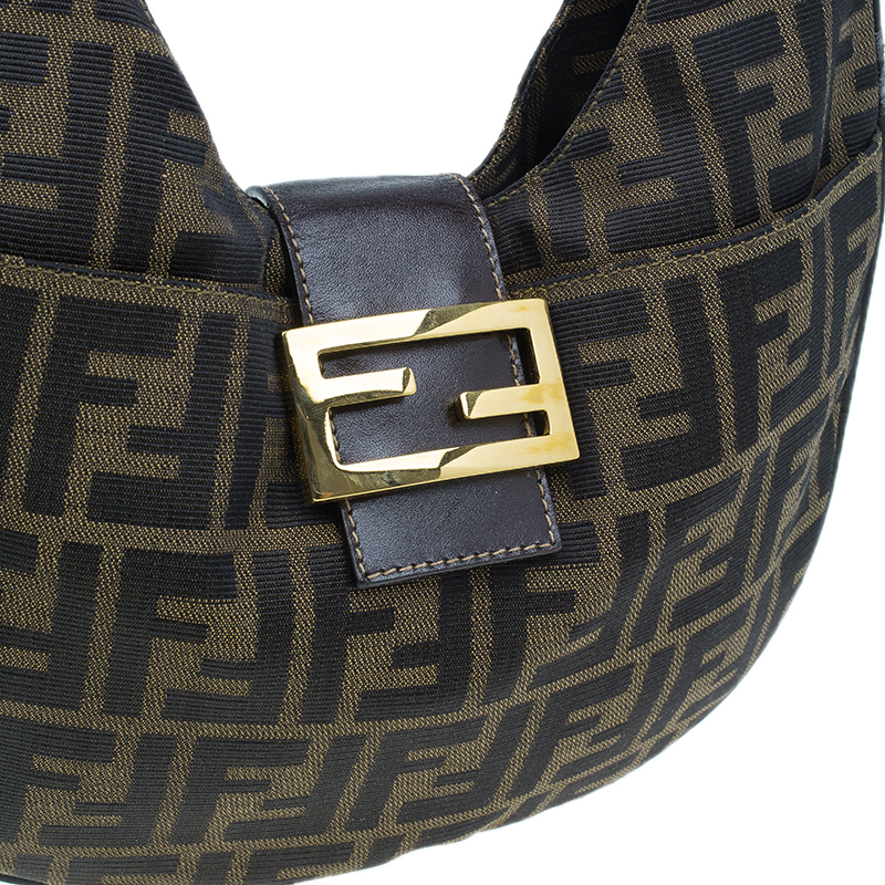 Fendi Brown Zucca Hobo Shoulder Bag
