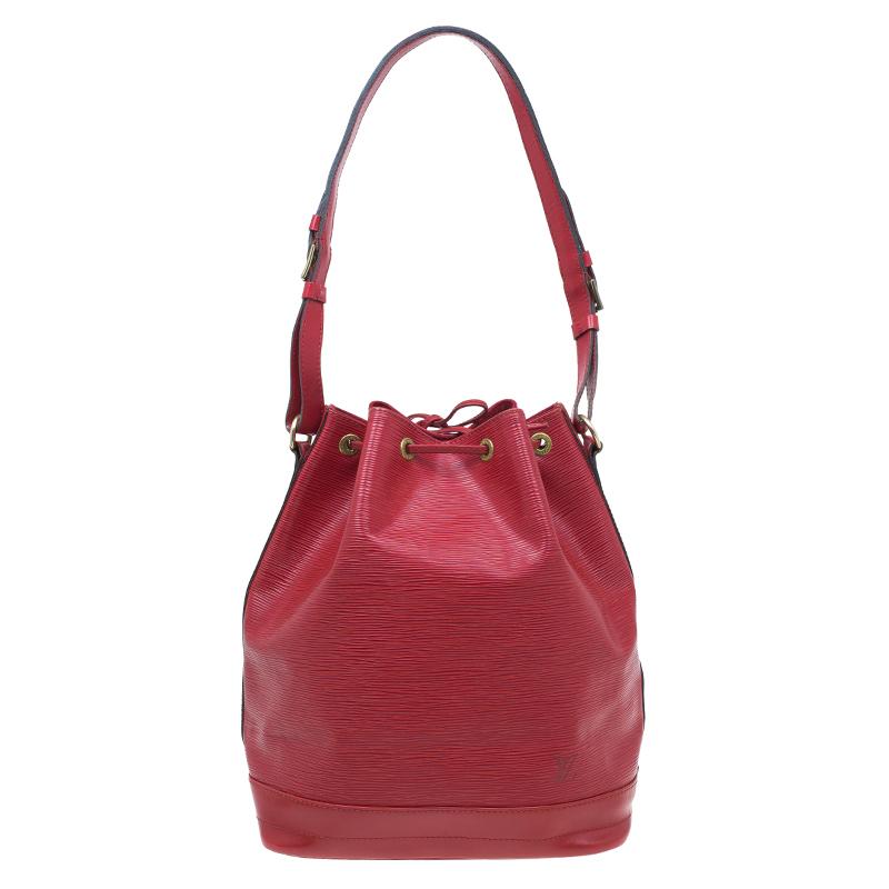 Louis Vuitton Rouge Castilian Epi Leather Petit Noe Bag