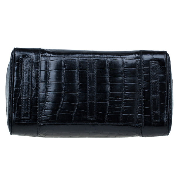 Ralph Lauren Black Alligator Ricky Bag