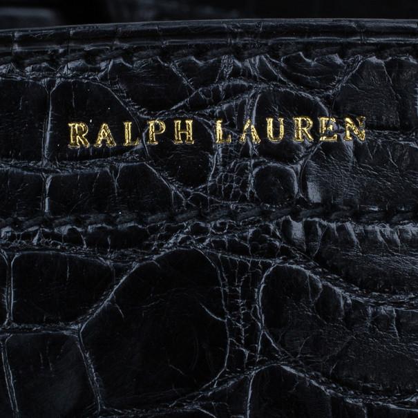 Ralph Lauren Black Alligator Ricky Bag