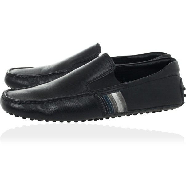Tod's Black Leather Loafers Size 41