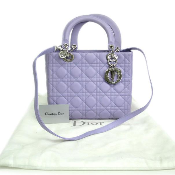 Dior Lilac Medium Lady Dior Tote