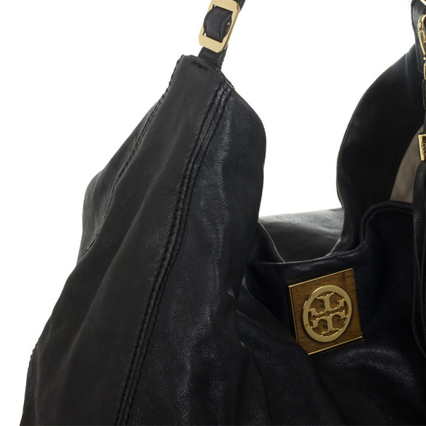 Tory Burch Black Leather Hobo