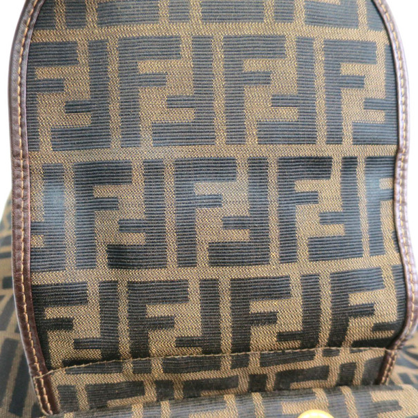 Fendi Brown Tobacco Zucca Canvas Travel Backpack