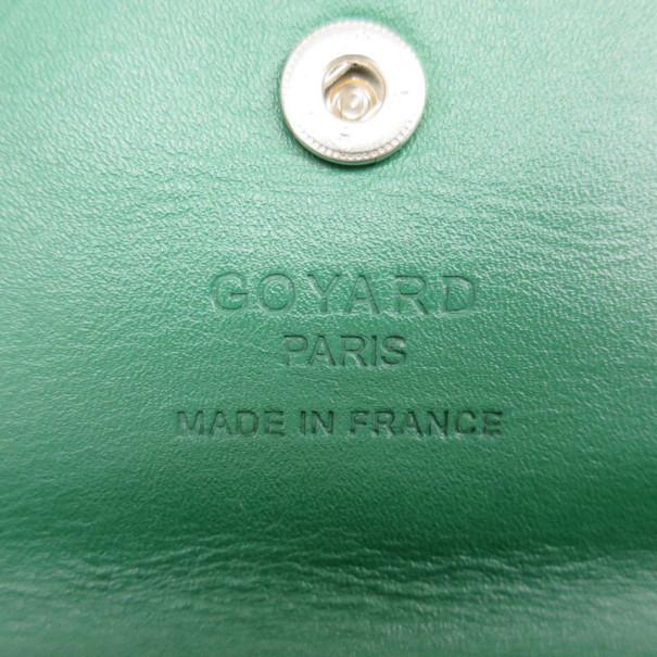 Goyard Coated Canvas Green Saint Louis Tote PM