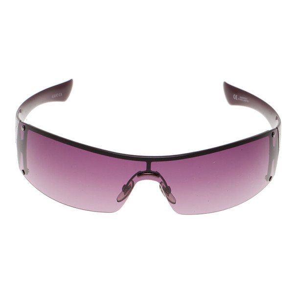 Gucci Purple GG 1824 Rectangle Shield Women Sunglasses