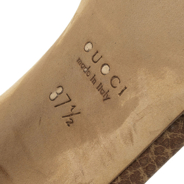 Gucci Bamboo Horsebit Tweed Kitty Slides Size 37.5