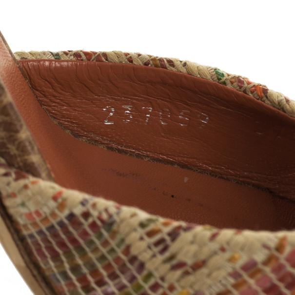 Gucci Bamboo Horsebit Tweed Kitty Slides Size 37.5