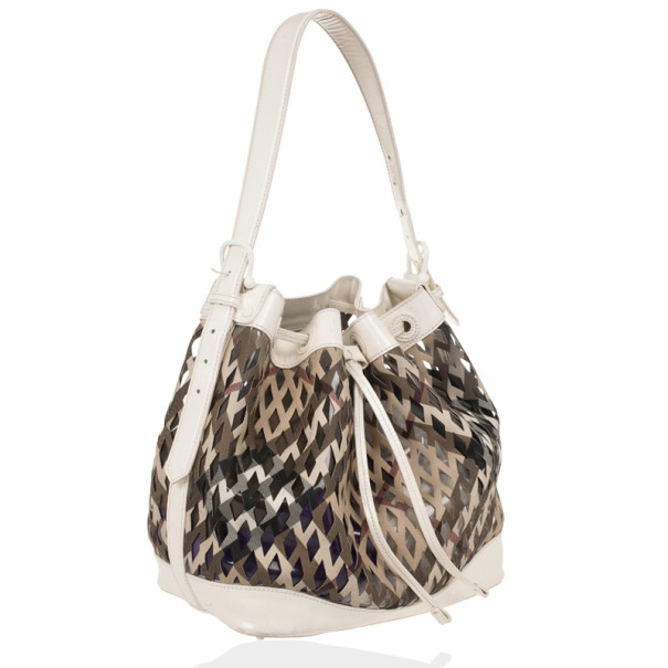 Burberry Nova Check Net Drawstring Bag