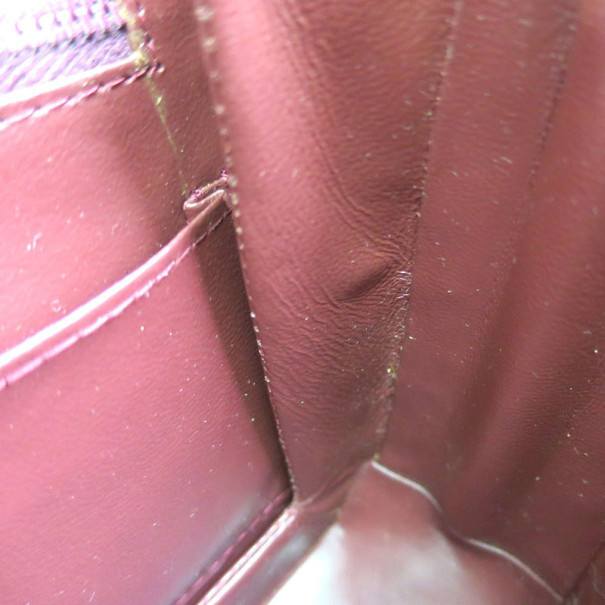 Gucci Bordeaux Leather Chain Crossbody Bag