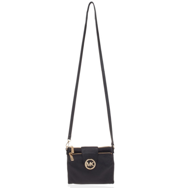 74dd243707fc MICHAEL Michael Kors Fulton Crossbody Bag. nextprev. prevnext MICHAEL KORS  Fulton East West Black Leather ...