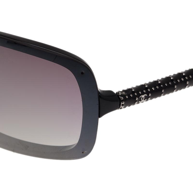 Chanel Black 6036 Shield Sunglasses