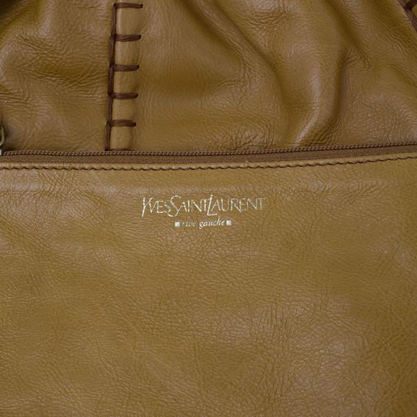 Saint Laurent Paris Beige Leather Hobo